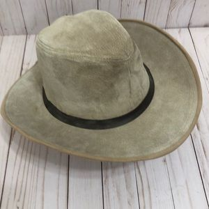 Vintage Sueded Pigskin Outback Genuine Leather Hat